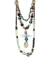 alexis bittar women's 10k goldplated & multi-stone beaded necklace