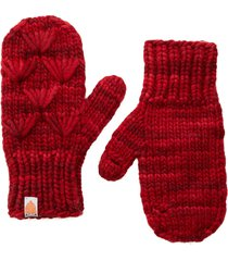 women's sh*t that i knit the motley merino wool mittens, size one size - red