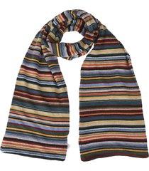 multicolor striped scarf