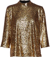 troye blouse blouse lange mouwen goud just female
