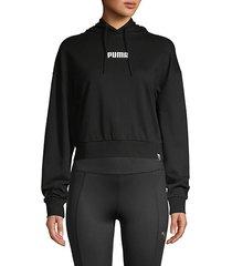 wild pack logo crop hoodie