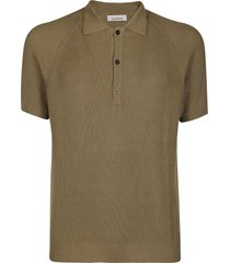 army green cotton polo shirt