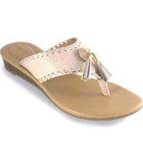 lindsay phillips margo wedge thong sandal women's shoes