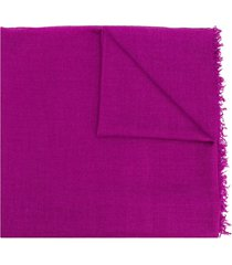 faliero sarti new enrica frayed edge scarf - purple