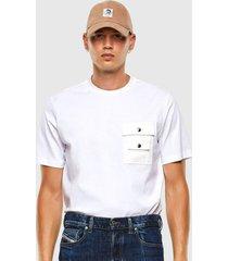 polera t task slits t shirt blanco diesel