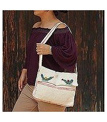 wool shoulder bag, 'cacti' (mexico)