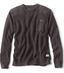garment-dyed army crewneck sweater