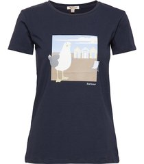 barbour orla tee t-shirts & tops short-sleeved blå barbour