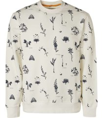 no excess sweater crewneck allover printed offwhite