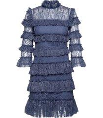 carmine mini dress kort klänning blå by malina