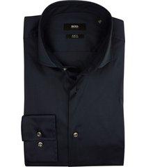 hugo boss overhemd navy slim fit