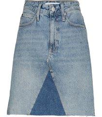 mid rise mini skirt, kort kjol blå calvin klein jeans