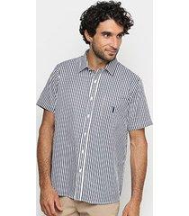 camisa manga curta aleatory listras masculina