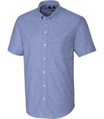 cutter & buck men's big & tall short sleeves stretch oxford shirt