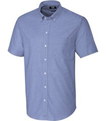 cutter & buck men's big & tall short sleeves stretch oxford shirt