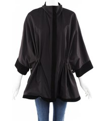 loro piana nylon suede cape black sz: one size