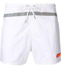 heron preston drawstring swim shorts - white