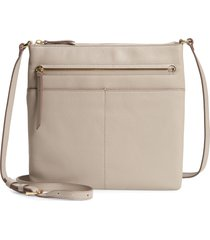nordstrom phoebe leather crossbody bag - brown