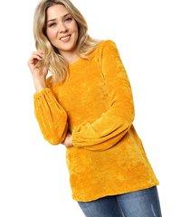 sweater mostaza al aniz chenille