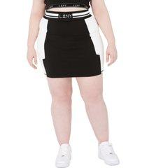 lala anthony trendy plus size high-waist stretch jersey skirt