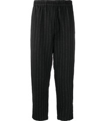 casey casey zwag march ankle-crop trousers - black