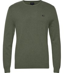 bradley organic cotton crew neck sweater gebreide trui met ronde kraag groen lexington clothing