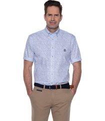 campbell casual shirt met korte mouwen wit