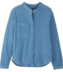 ribjersey blouse uit bio.katoen, urban denim 44
