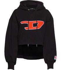 f-dinie-b sweat-shirt hoodie trui zwart diesel women