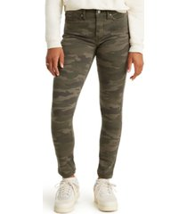 levi's 311 camo-print shaping skinny jeans