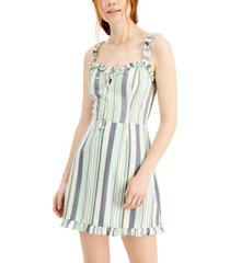 be bop juniors' striped ruffled fitted dress