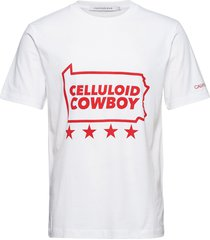 americana slogan reg ss tee t-shirts short-sleeved vit calvin klein jeans