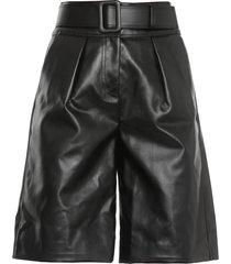 self-portrait faux leather shorts
