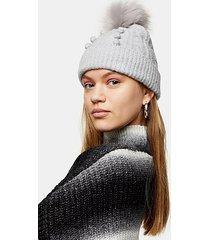 grey bobble beanie - grey