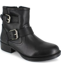 women's elicia moto buckle leather booties women's shoes