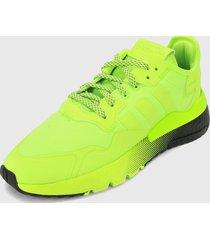 tenis lifestyle verde-negro adidas originals nitte jogger