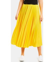 lacoste women's classic midi pleated a-line skirt