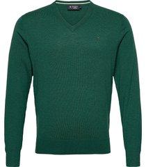 cotton wool v neck stickad tröja v-krage grön hackett london