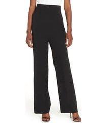 women's eliza j high waist straight leg pants, size 0 - black