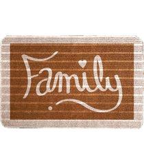 capacho carpet family marrom ãšnico love decor - marrom - dafiti
