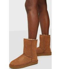 ugg w classic short ii flat boots chestnut