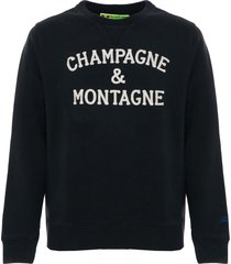 champagne & montagne blue sweatshirt