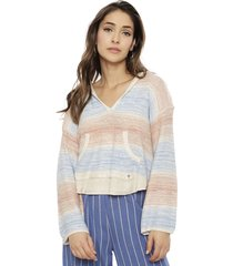 sweater billabong multicolor - calce holgado