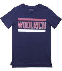 woolrich blue cotton jersey t-shirt