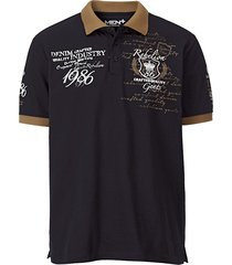 poloshirt men plus zwart::wit::cognac