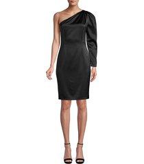 elie tahari women's nikita one-shoulder satin dress - black - size 8