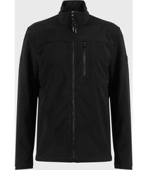 chaqueta calvin klein negro - calce regular