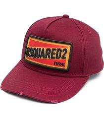 dsquared2 distressed logo cap