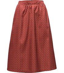 tadea rok knielengte rood custommade