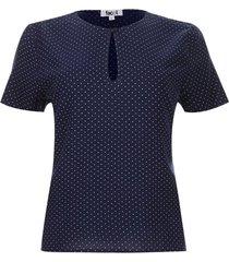 blusa cierre lagrima color azul, talla 6